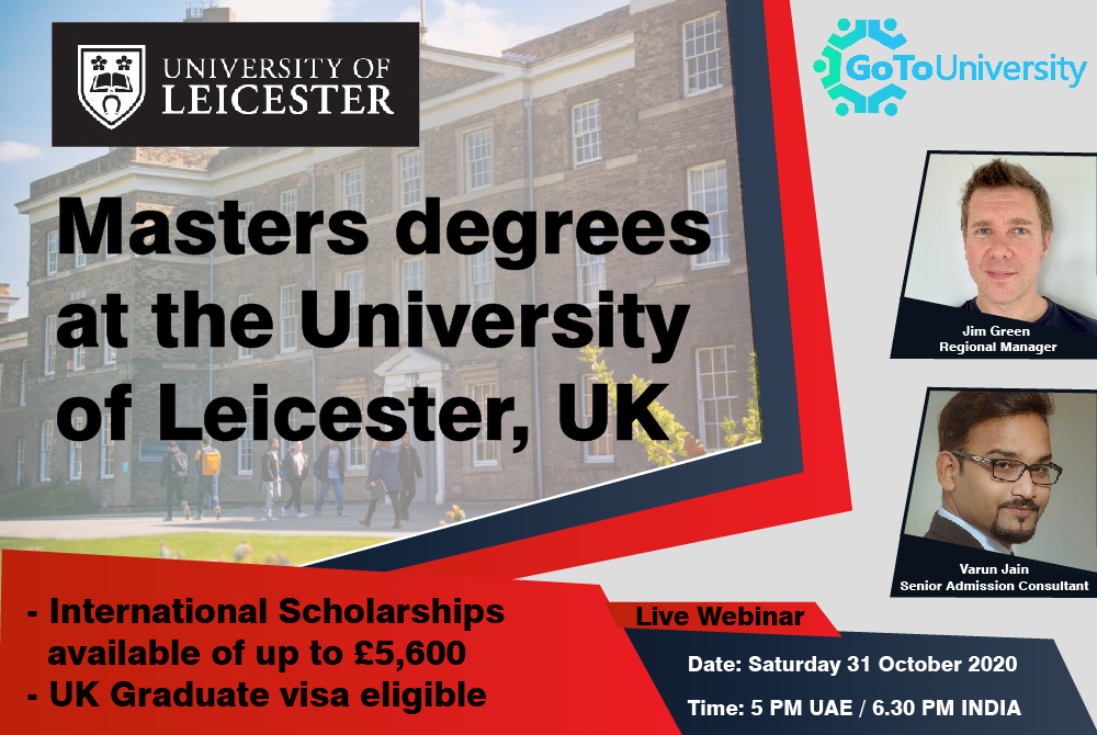 Masters degrees at the University of Leicester UK